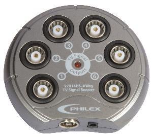 Philex 27814hs 6-way TV signal booster