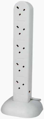 10 Gang Tower Extension Lead with Surge Protection