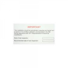 RCD Test Label