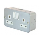 Twin Switched Socket 13a